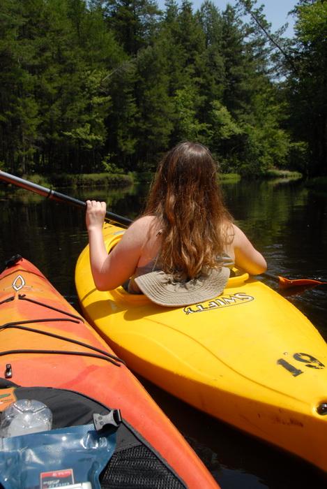 kayak, kayaking, paddling, river, trees, water, Jackie