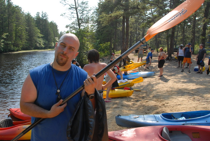beach, kayak, kayaking, paddling, river, trees, water, Jeff