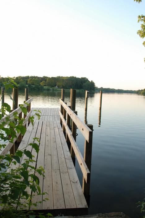 lake, pond, water, dock