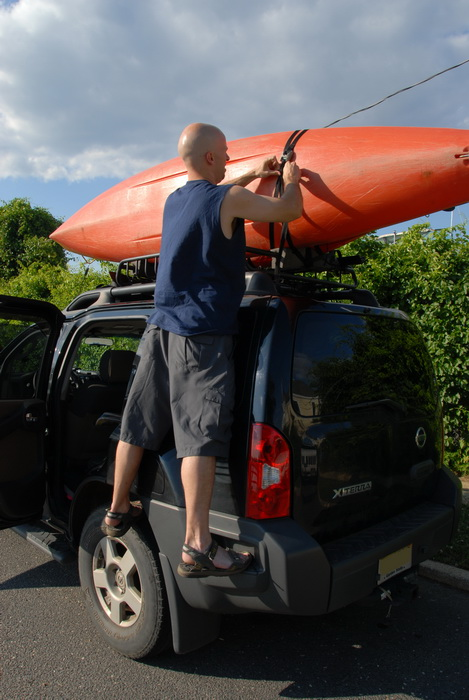 My Xterra, Scott, kayak, straps