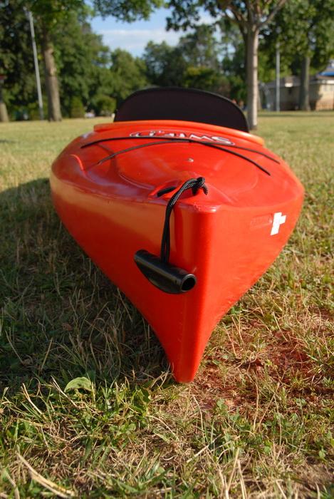 2008 9.5 foot Swifty, grass, kayak