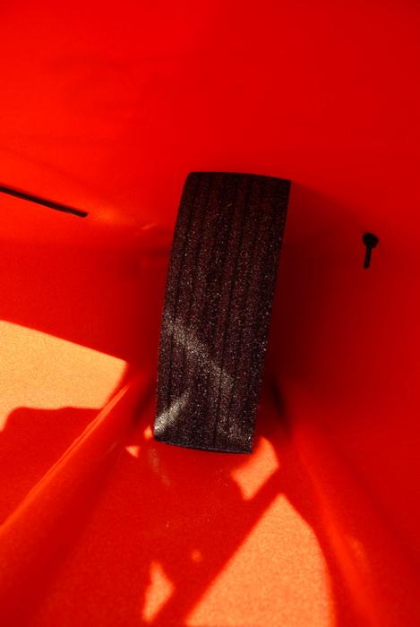 2008 9.5 foot Swifty, kayak, inside, foot compartment, foam insert