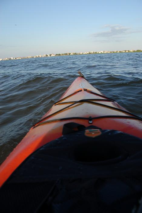 kayak, river, water, waves