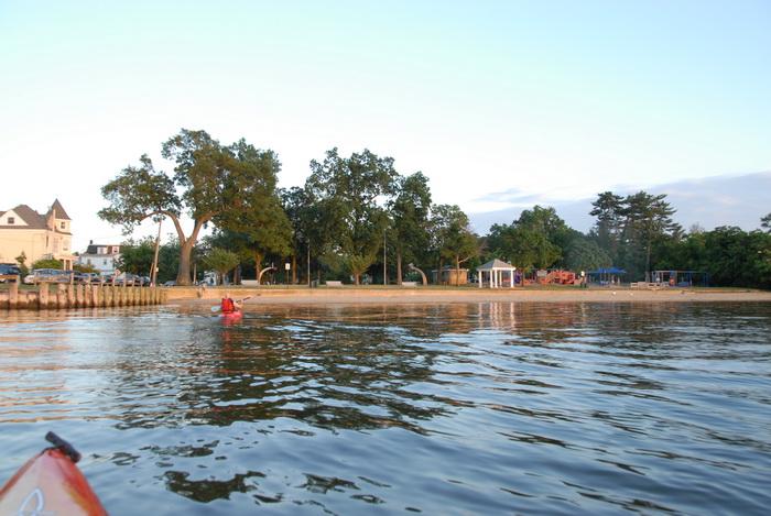 Scott, beach, gazebo, kayak, playground, river, trees, water