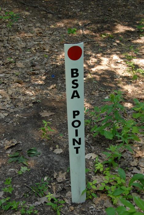 trail sign, BSA Point