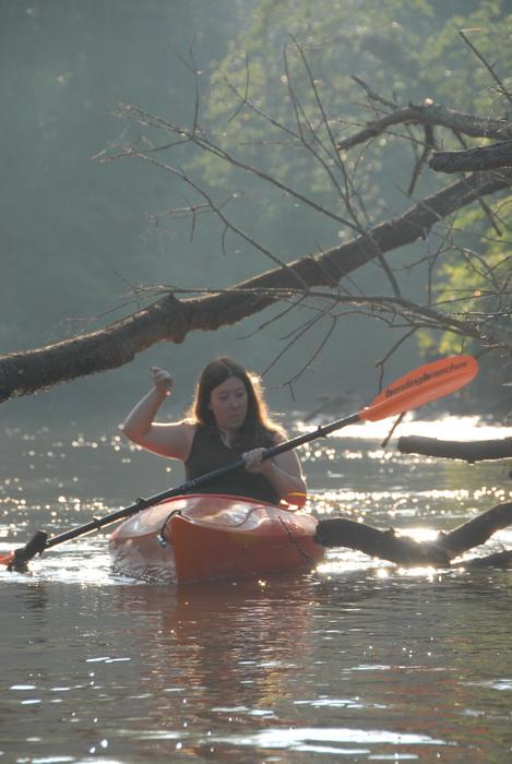 Jackie, river, water, kayak, paddling