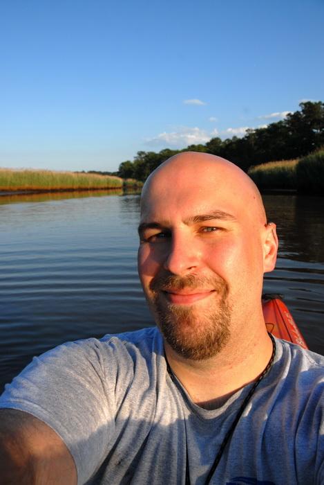 Jeff, self portrait, water, river