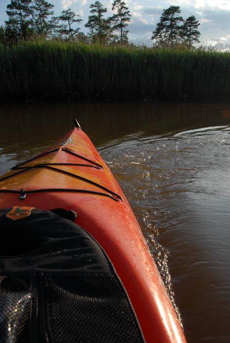 kayak, fishtail