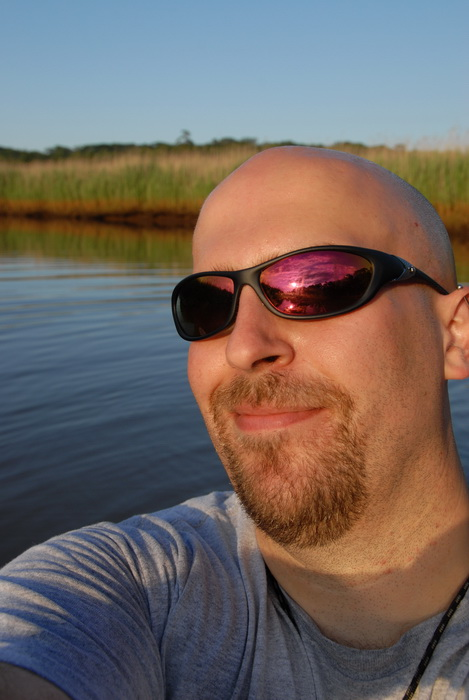 Jeff, river, self portrait, water, sunglasses