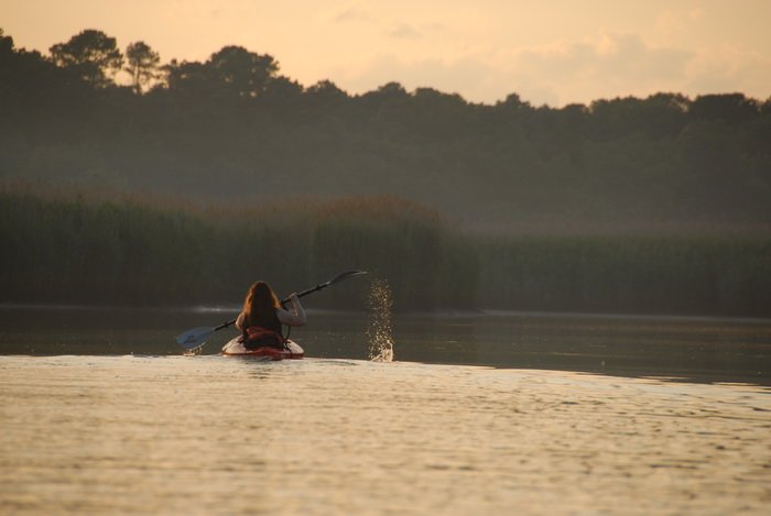 Jackie, kayaking, paddling, river, sunset, water, My Favorite Pictures