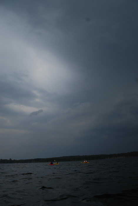 lake, reservoir, storm clouds, water