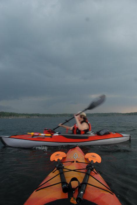 JSSKA, kayak, kayaking, lake, paddling, people, reservoir, storm clouds, water