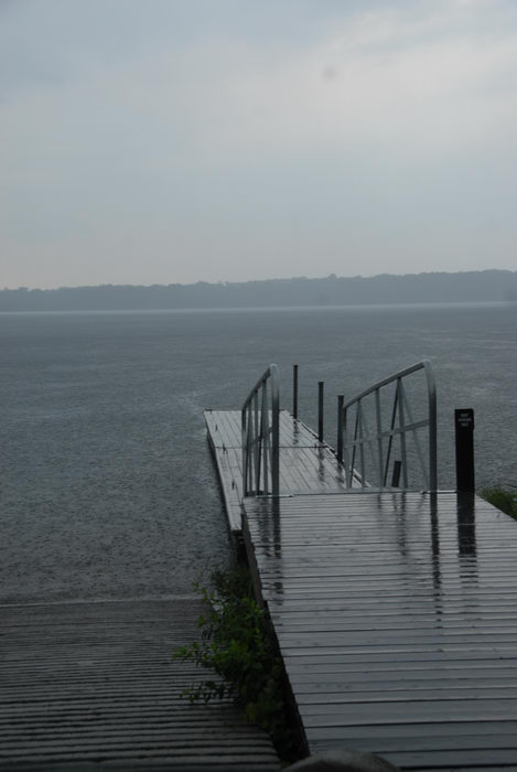 boat launch, dock, lake, rain, reservoir, storm clouds, water