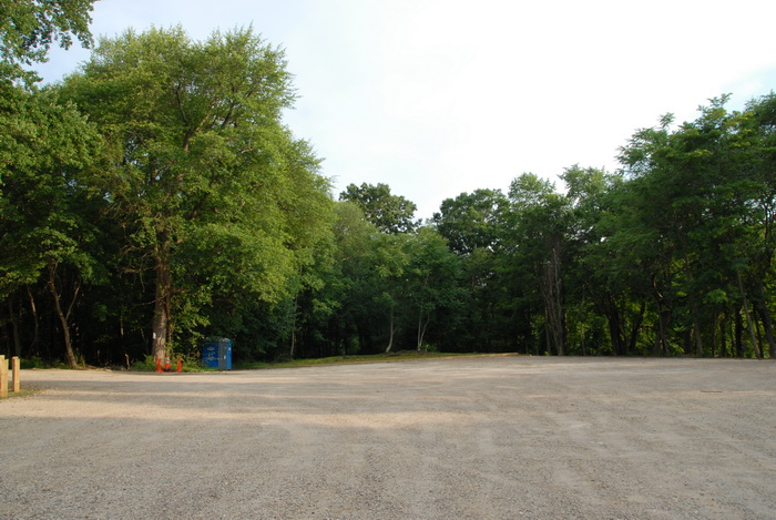 parking, trees, dirt