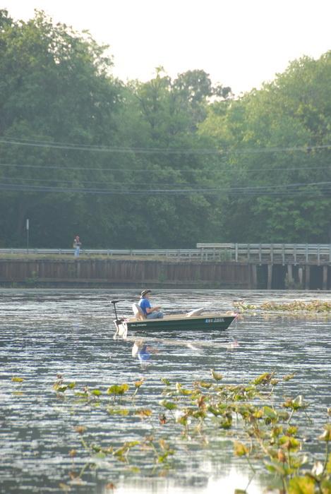 Millhurst Mills Lake, boat, bridge, fishing, pond, water