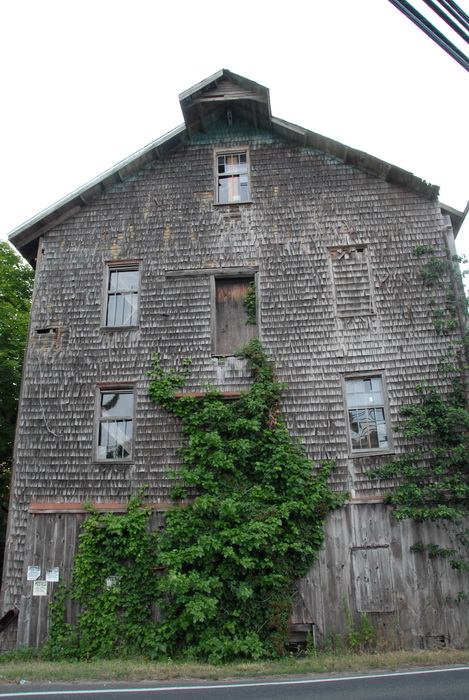old barn, ivy, leaves, shingles