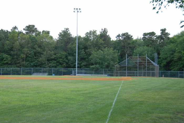 baseball diamond, baseball field, grass, trees