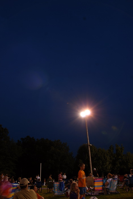 nighttime, flood light