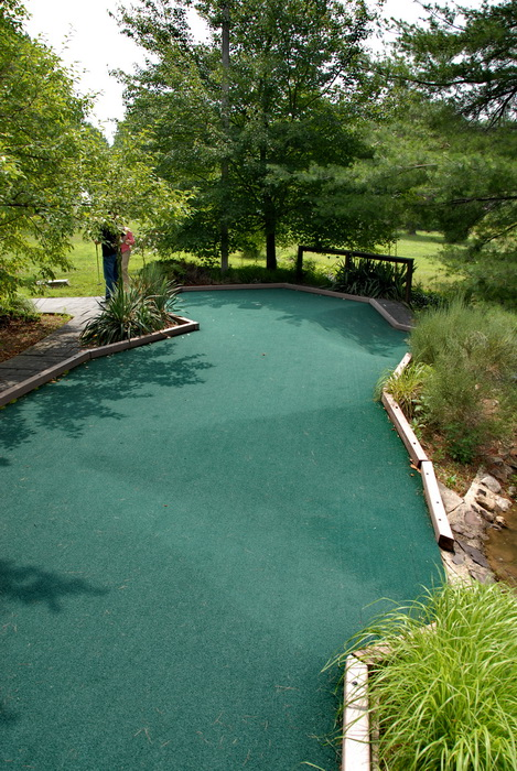 minigolf, trees, golf green, grass
