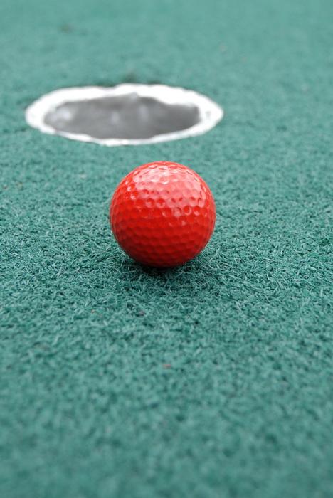 golf green, golf ball, golf hole