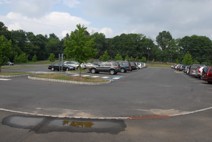 parking lot, cars