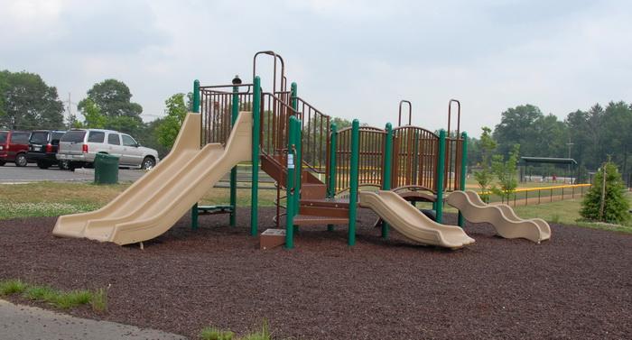 playground, slides