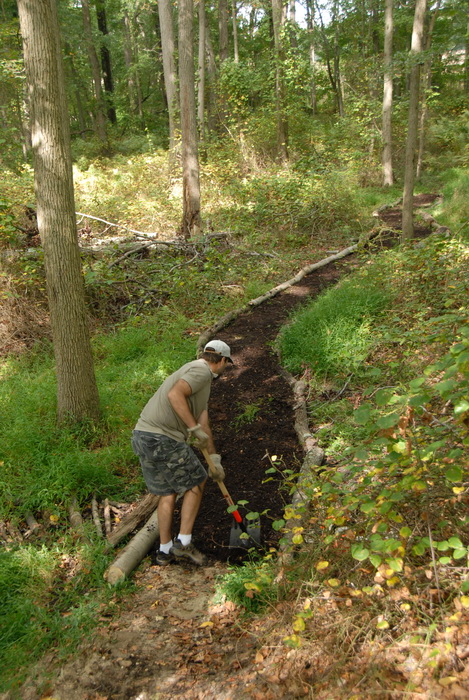 path, tools, trail, trail maintenance, trees, woods, S.M.A.R.T.
