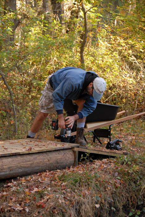 trail maintenance, bridge, tools