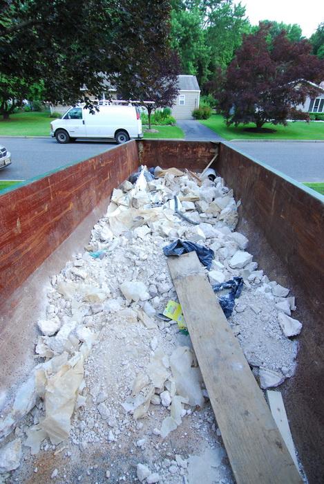 construction, junk, dumpster