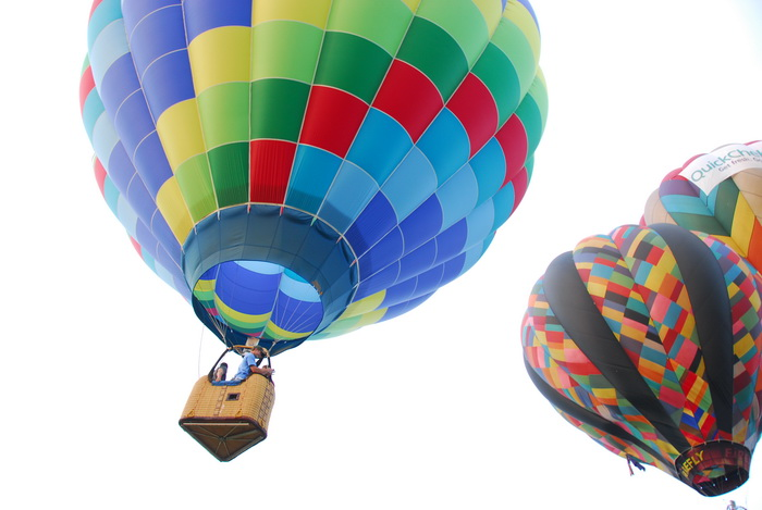 flight, hot air balloon, basket, floating