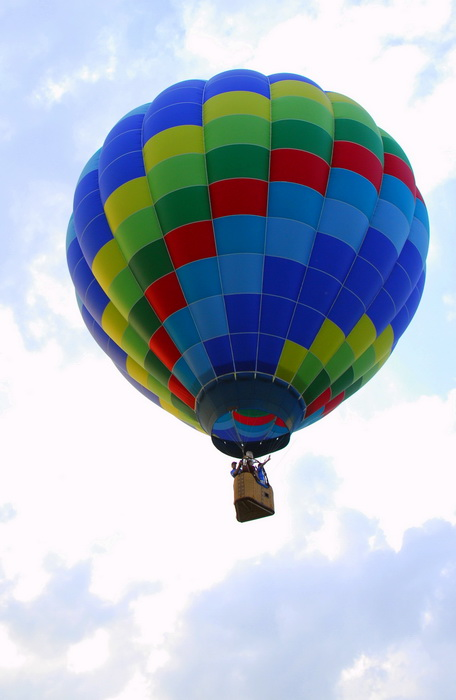 basket, flight, floating, hot air balloon