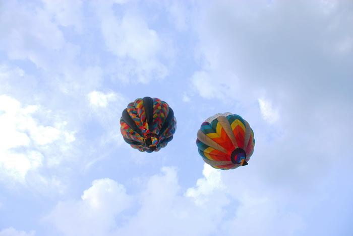 basket, flight, floating, hot air balloon, sky