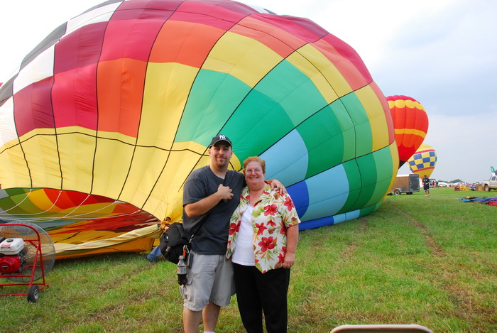 fan, grass field, hot air balloon, inflating, mom, Jeff Conklin