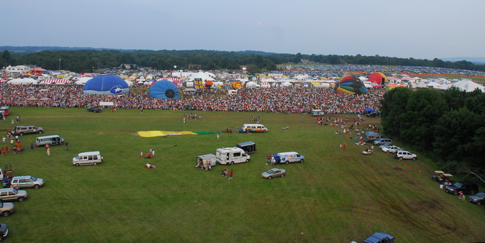 festival, hot air balloon, people, crowd, floating, cars