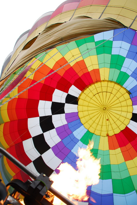 hot air balloon, looking up, flame, fire, inside