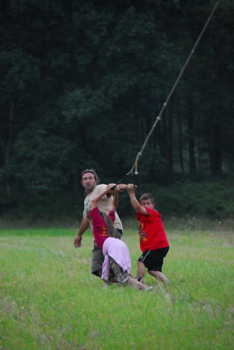 field, helper, rope