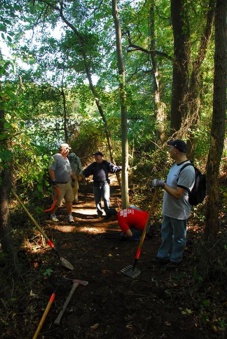 JORBA, S.M.A.R.T., leaves, trail day, trail maintenance, trees, woods, path, trails