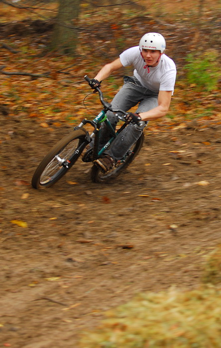 downhill mountain bike track, mountain bike, mountain bikers, racer, racing, movement, action