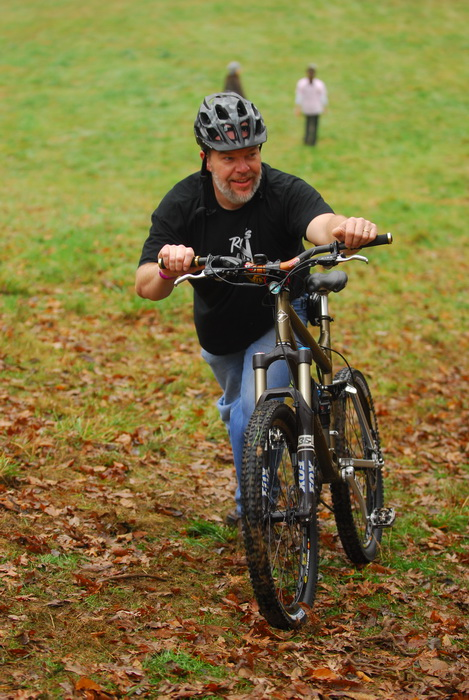 mountain bike, Frank, hill