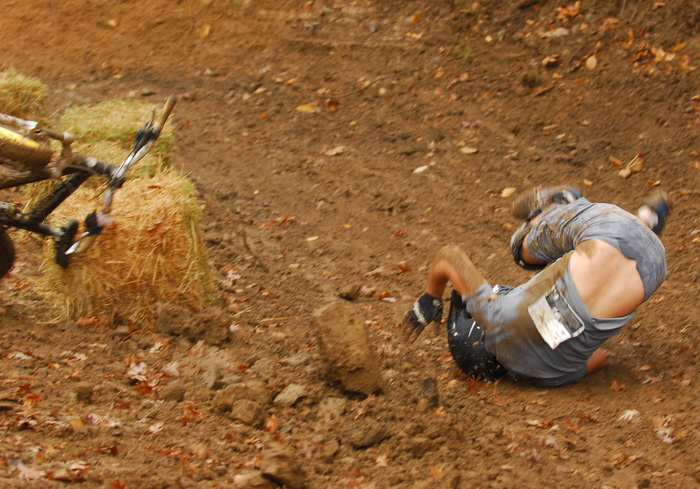 downhill mountain bike track, mountain bike, mountain bikers, mud, racing, crash, fall, slip