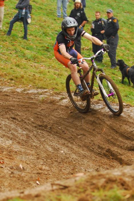 downhill mountain bike track, mountain bike, mountain bikers, mud, racing, hill, grass, people