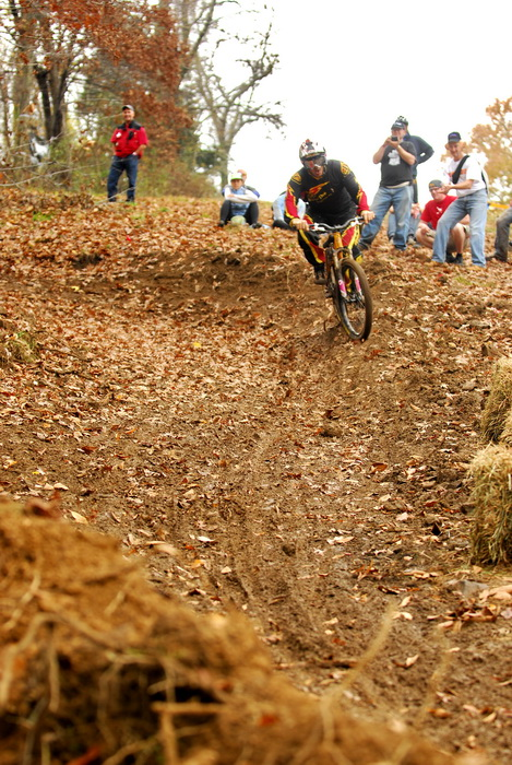 downhill mountain bike track, mountain bike, mountain bikers, racer, racing