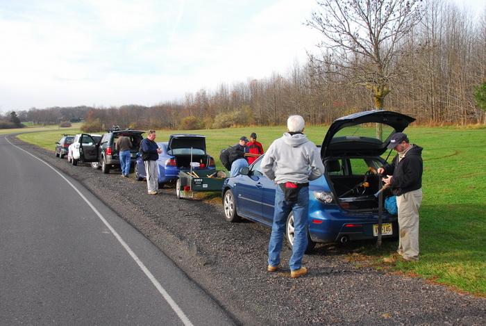S.M.A.R.T., cars, field, road, trail work, trees, grass