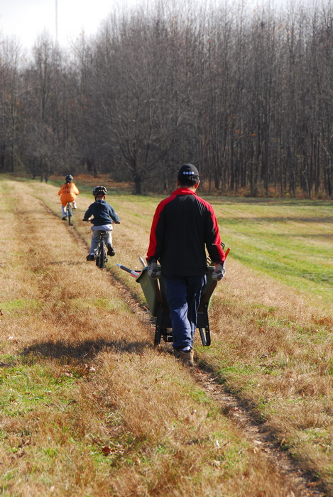 S.M.A.R.T., bike path, dirt path, field, trail, trees, grass