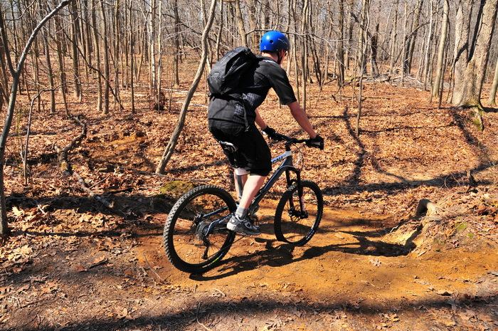 mountain bike, biker, trail, new trail, woods