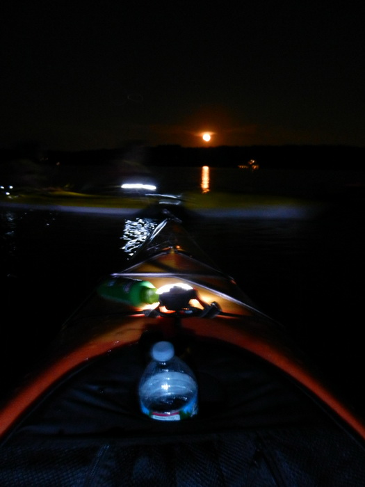 Swartswood SP, kaya, moon, night