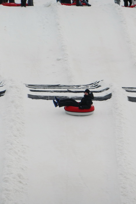 hill, lanes, people, snow, tubes, tubing, Rob